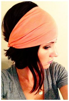 Salmon Wrap OR Turban  Buy 3 Get 1 Free by FabricWraps on Etsy