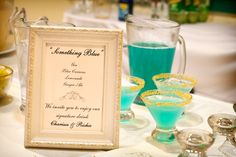 wedding drinks something blue cocktail Inspiration:  Signature Cocktails (+ Recipes!)