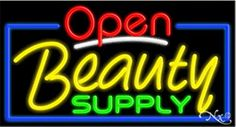 Beauty Supply Open Handcrafted Energy Efficient Glasstube Neon Signs