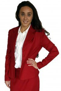 Red Jacket (shown with ruffle front tank - sold separately)