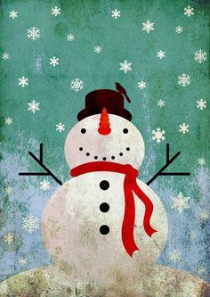 snowpy christmas Art Print add JHappy Birthday like frosty
