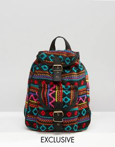 Reclaimed+Vintage+Tapestry+Mini+Backpack+in+Black