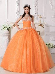 706058fac3cc Orange Ball Gown Strapless Quinceanera Dress with Appliques and Beading  Sweet 15 Dresses, Sweet Sixteen