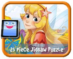 Flower Fairy - 25 Piece Online jigsaw puzzle for kids