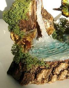 La Bottega delle Fate: Tutorial: water effect with hot glue