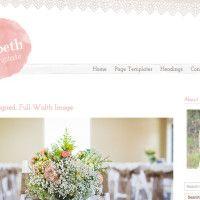 feminine wordpress themes. Pretty Blog Design. Website Design