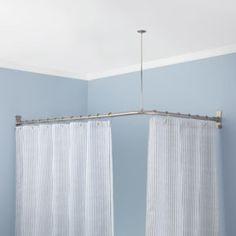 Curved Shower Curtain Rod For Corner Bath