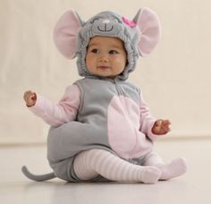Carters Newborn 6 9 Months Little Mouse Halloween Costume Baby Girl  #Carters #Holiday