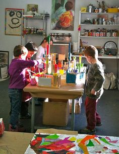 10 Inspiring Art Studios for kids - some great ideas and inspiration. More