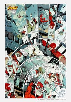 Wednesday Comics, the Flash. Story by Karl Kerschl and Brenden Fletcher, art by Karl Kerschl. Embiggen to behold. This is one of the all-ti...