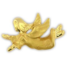PinMart's Gold Flying Angel Religious Spiritual Lapel Pin 1-1/8' >>> Be sure to check out this awesome product. (This is an affiliate link) #JewelryForWomen