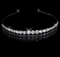 Fashion Rhinestone Clear Crystal Tiara Headband for Wedding Party Bridal Jewelry