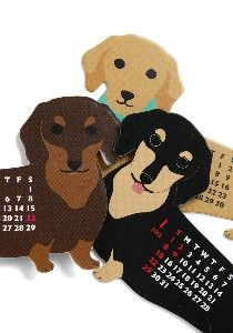 Year of the Critter 2014 Dachshund calendar