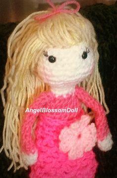 Crochet doll pattern, Amigurumi girl pattern, crochet girl amigurumi, Angel Blossom doll, pattern no. 1