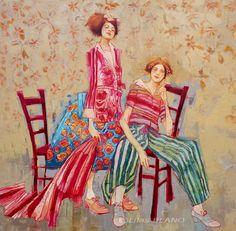 Jeté de chaises. Huile sur toile. 135 x 135 cm. www.lilasblano.com