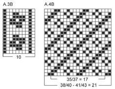 """Gebreide DROPS sokken met diagonaal patroon van """"Fabel"""". Maat 35-43 ~ DROPS Design"""