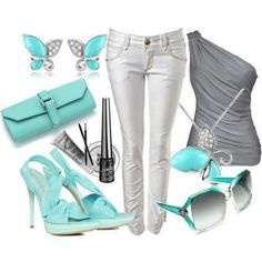 A teal blue accessories is just a too perfect. On a light day if you do not feel much like it, I will recommend this outfit, especially to a Friday night out