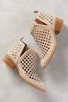 Jeffrey Campbell Taggart Booties Beige Boots #anthrofave