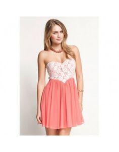 Bílo-růžové šaty s krajkou