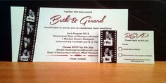 Wedding Invitations designed and printed by Tekneek Print and Design.