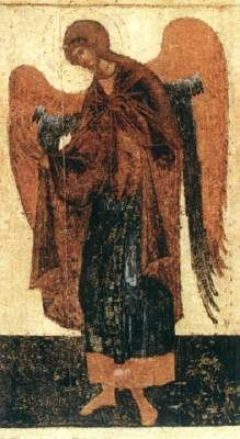 Icon from the Deësis Tier c. 1399 Egg tempera on wood, height 210 cm Cathedral of the Annunciation, Kremlin, MoscowTHEOPHANES the Greek Archangel Gabriel, Archangel Michael, Byzantine Icons, Byzantine Art, Russian Icons, Russian Art, Religious Icons, Religious Art, Fresco