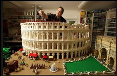 World's First Lego Colosseum Made of 200,000 Bricks | Certified Lego builder Ryan McNaught has created the world's first Lego Colosseum. Using 200,000 Lego bricks, the model is presented in cross-section with half in its present day ruined form and half as it was when Rome's original Colosseum was built, circa 80 AD. |