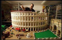World's First Lego Colosseum Made of 200,000 Bricks by Ryan McNaught que paciencia y creatividad,muy interesante