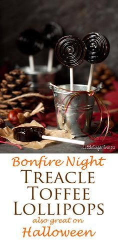 Bonfire Toffee (Treacle Toffee): rich, buttery and deliciously dark, this toffee also makes a great Halloween treat. Shared by Where YoUth Rise Bonfire Toffee, Bonfire Night Food, Candy Recipes, Sweets Recipes, Fall Recipes, Homemade Candies, Food Themes, Halloween Treats, Delicious Desserts