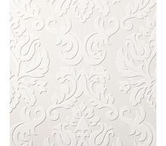 Paintable damask wallpaper... Ink the raised areas or hand paint them and then frame 3 or 4 for nice wall art..
