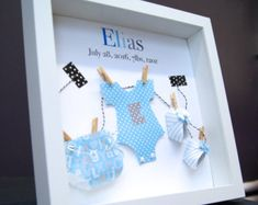 Personalized Baby Frame with Name & Birth Info Custom Paper Art of Onesie Diaper and Booties Baby Shower Gift Nursery Decor Wall Art by paintandpapercraft on Etsy Baby Decor, Nursery Decor, Nursery Boy, Newborn Nursery, Nursery Ideas, Baby Newborn, Kids Decor, Baby Baby, New Baby Gifts