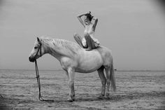 One of the great pieces in her portfolio brings us to sandy shores with horses, balloons and a peculiar man in a rabbit suit. Description from trendhunter.com. I searched for this on bing.com/images