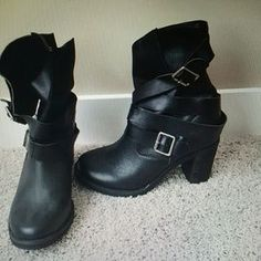 Selling this Jeffrey Campbell France Wrap Strap Boots-7.5 NWOB on ...
