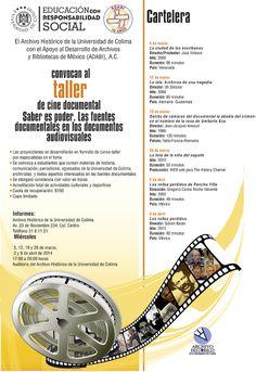 """Taller de cine documental """"Saber es poder. Las fuentes documentales en los documentos audiovisuales""""."""