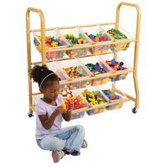 Mobile Manipulative Cart with Bins #PinIt2WinIt