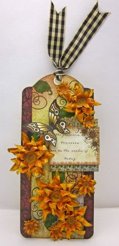 sunflower tag by Lori Williams