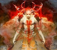 Artist: Woojin Oh aka hoooook - Title: 0002 (sketch) - Card: Doomsday Djinn Marid (Soul Eater) Dark Creatures, Fantasy Creatures, Dark Artwork, Cg Artwork, Gothic Fantasy Art, Angels And Demons, Fallen Angels, Creature Feature, Mythological Creatures