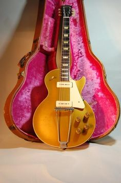 And finally, here's a 1952 all gold Gibson Les Paul. They don't get any more vintage than this one. This one was featured in Premiere Guitar magazine. A one owner guitar and very expensive.