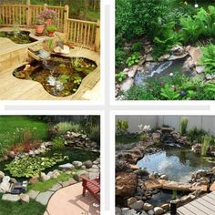 Make Fake Rocks for Your Pond | garden education | Pinterest | Pond Small Backyard Pond Landscaping Ideas On A Budget Html on small backyard designs, slope landscaping on a budget, landscaping on a tight budget, small backyard patio landscaping ideas, small backyard garden, backyard decorating ideas on a budget,