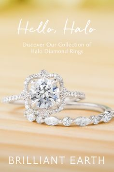 Halo engagement rings, one of our most sought after styles, feature sparkling accent diamonds encircling the center gem. Discover our collection. Dream Engagement Rings, Wedding Engagement, Wedding Bands, Wedding Stuff, Dream Wedding, Wedding Ideas, Beautiful Wedding Rings, Pretty Rings, It Goes On