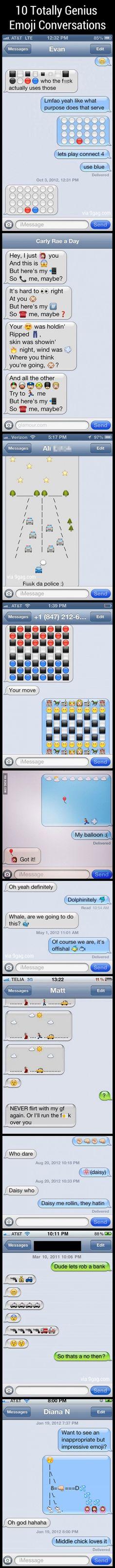 9GAG - 10 Totally Genius Emoji Conversations