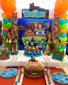 birthday gifts for him Happy Birthday Celebration, 5th Birthday Party Ideas, Party Themes For Boys, Birthday Bash, Torta Scooby Doo, Scooby Doo Halloween, Scooby Doo Mystery Incorporated, Theme Color, Party Planning
