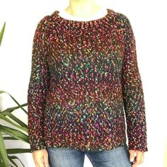 Topshop Colourful Mottled Jumper UK Size 12 Rainbow Angora Goat Hair Sweater Angora Goat, Angora Rabbit, Topshop Tops, How To Roll Sleeves, Shirt Blouses, Cosy, Knits, Jumper, Size 12