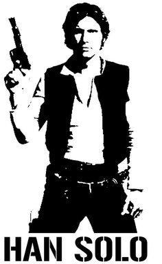 Star Wars - Han Solo Stencil