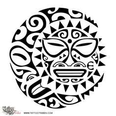 maori art   Two-Faced Sun/Moon Tattoo Sleeve - See It