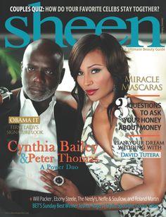 Cynthia Bailey and Peter Thomas Cover Sheen Magazine