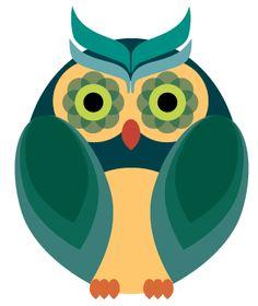 Flowery retro owlet from owladay.wordpress.com