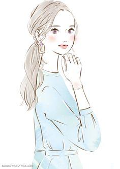 Girls Cuts, Beauty Illustration, Fashion Sketches, Makeup Art, Girly, Cartoon, Drawings, Artwork, Cute
