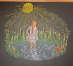 Waldorf ~ 3rd grade ~ Old Testament Stories ~ Moses ~ chalkboard drawing