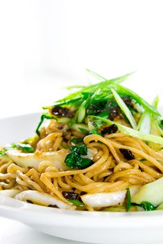 Triple Black Garlic Noodles