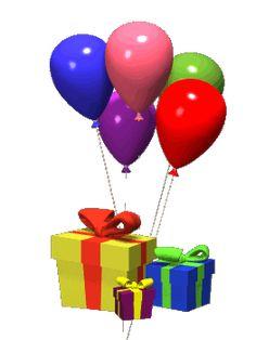 Urodziny Balony Z Prezentami Happy Late Birthday Wishes Greetings 50th